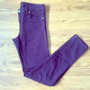 Kut from the Kloth Diana Purple Skinny Jeans